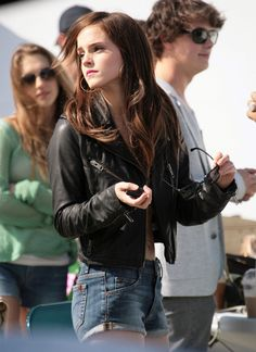 Emma Watson Photos: Emma Watson Gets Busy On The Bling Ring Set