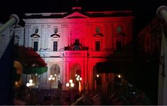 The building facade is the National Library in Piazza Regina, Valletta, we illuminated the facade prior to an event.