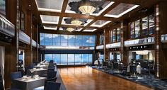 Manhattan Lounge on the Norwegian Escape