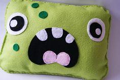Spotty Green Monster Cushion  www.kidish.co.uk