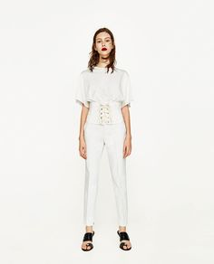 7eef1430ea CHINO TROUSERS - NEW IN. Zara Mujer PantalonesPantalones ...