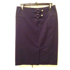 Dark Blue Ralph Lauren Skirt Dark blue skirt from Ralph Lauren. Slit in the bottom front and original belt clip buttons. Fits slightly high-waisted. 98% cotton, 2% elastane. Barely worn. Great for everyday office work. Ralph Lauren Skirts Pencil