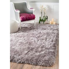 Momeni LUSTER SHAG LS 01 Rug Is Available In Multiple