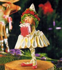 KrinklesOnline.com - 2012 Krinkles Dash Away Dancer's Gift Elf Christmas Ornament, $37.00 - Perfect gift for the little dancer in your life!