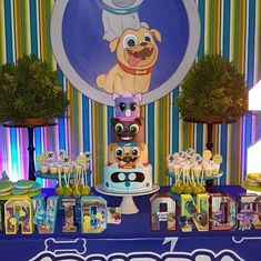 Dogs And Puppies Birthday Best Ideas Baby Boy 1st Birthday Party, Puppy Birthday Parties, Second Birthday Ideas, Puppy Party, 1st Boy Birthday, Birthday Party Themes, Birthday Cakes, Bingo, Kairo