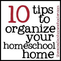 I wanted to share 10 homeschool organization ideas that really help me when I'm on my game to keep things running smoothly and easily around our place.