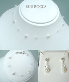 d184ede6b SWAROVSKI CRYSTAL AND PEARL BRIDAL SET