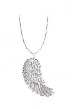 What is an Angel without its wings? 42mm Silver Rhodium Plated Wing Pendant with White Crystals (R2199) on 50cm Silver Rhodium Plated Anchor Chain (R899)