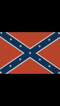DOWNLOAD Chella Crochet Confederate Rebel Flag Afghan Crochet Pattern ...