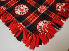 Boston Red Sox Fleece Throw by PolkaDotKreations on Etsy, $52.00 So cuddly looking!