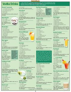 Bartender'S Guide To Cocktails (Quick Study Home) Liquor Drinks, Vodka Drinks, Non Alcoholic Drinks, Yummy Drinks, Bartender Drinks, Cocktails, Beverages, Cocktail Shots, Cocktail Recipes