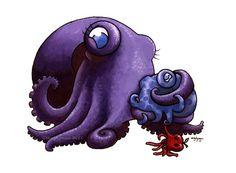Commission: Applepus by MegLyman, – Animal Planet Octopus Tattoos, Octopus Art, Fish Art, Kraken, Ocean Art, Ocean Life, Creature Feature, Sea Monsters, Japanese Tattoos