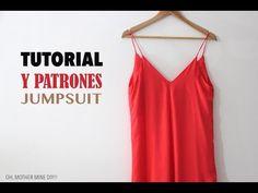 DIY ropa, como hacer tu misma este jumpsuit, mono o enterizo paso a paso. La costura es muy sencilla!!!! Los patrones los tenéis disponibles y gratis en el b...