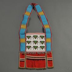 Blood Beaded Cloth Bandolier Bag/Horse Collar   Sale Number 2636B, Lot Number 157   Skinner Auctioneers