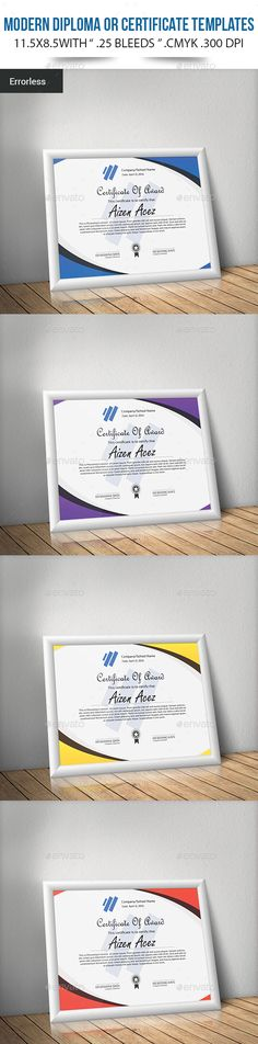 Modern Diploma or Certificate Template PSD. Download here: http://graphicriver.net/item/modern-diploma-or-certificate-templates/15561193?ref=ksioks