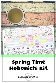 Kawaii springtime sticker kit for your Hobonichi (or Fauxbonichi) Weeks. These stickers are printed on the finest matte paper known to man, and kiss cut so they're good to go straight out of the box! Best Planners, Planner Supplies, Hobonichi, Small Shops, Bullet Journals, Life Planner, Erin Condren, Art Market, Getting Things Done