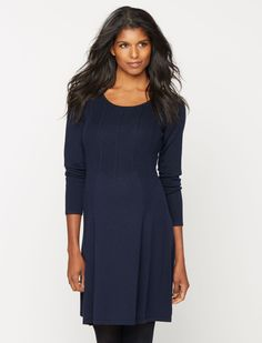 Sweater dresses are perfect for cold weather style | long sleeve cable knit maternity dress by Design History available at A Pea in the Pod