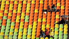 Organizers blame scalpers, lack of food for Rio attendance issues  -  August 11, 2016  -     Empty seats, such as here for the rugby sevens match between the United States and Spain, have been a common occurence in the Olympics thus far.