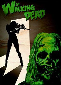Resultado de imagem para the walking dead posters illustrations