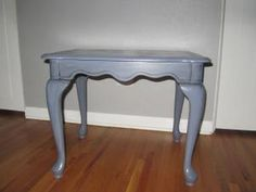 Gray Vintage End Table. In Denver - Free Delivery! $35