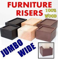 FURNITURE RISER --- WIDE, Raise Bed, Lift, Storage, Organize picclick.com
