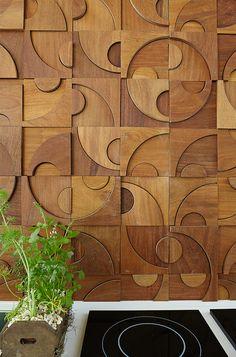 Wood Wall Decor, Wooden Wall Art, Wooden Walls, Wood Art, Estilo Interior, Door Design Interior, Wood Mosaic, Mural Wall Art, 3d Wall