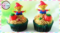 SCARECROW CUPCAKES HALLOWEEN CUPCAKES - BY SUGARCODER   #halloween #halloweencupcakes #halloweencake #scarecrow #scarecrowcookies #scarecrowcake #scarecrowcupcakes #autumncake #autumncupcakes #pumpkincupcakes #pumpkincake #pumpkincookies #decoratedcupcakes #cupcakes