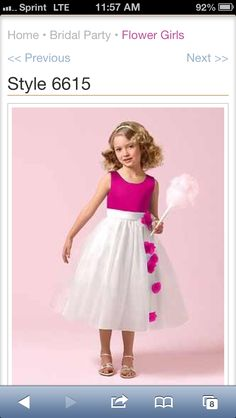 f325581b3a1 Flower girl dresses confirmed! Fuschia and ivory  Gorgeous Dress