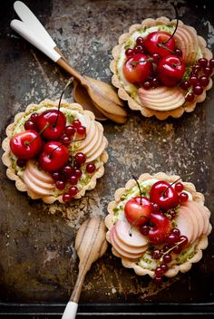 stone fruit tarts with coconut pastry cream / MICHAEL PAYNIC