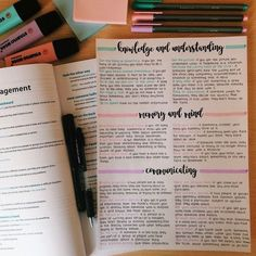 Teresa's studyblr Love how these three colors match together! I've used Stabilo pastel highlighters and Staedtler triplus fineliner pens (delft blue, light carmine and lavender). Cute Notes, Pretty Notes, Good Notes, Motivation Letter, Study Motivation, School Organization Notes, Study Organization, Bullet Journal Notes, Bullet Journal School