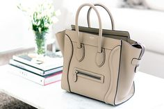 Celine Micro Luggage beige