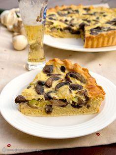 quiche-cu-ciuperci-si-dovlecei Omelet, Frittata, Quiche Lorraine, Ricotta, Zucchini, Food And Drink, Desserts, Pie, Kitchens
