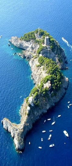 Li Galli Islands, Amalfi Coast, Italy --dolphin island, southwest of Positano