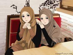 Ada yang punya saran captionnya apa? . Caption terbaik akan dipilih oleh mimin 😉 . Tulis dikomentar ya 😉 Cute Couple Cartoon, Cartoon Pics, Girl Cartoon, Cartoon Art, Hello Kitty Drawing, Hijab Drawing, Anime Sisters, Best Friend Drawings, Cute Muslim Couples