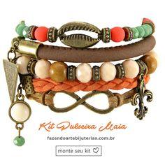Amamos mix de pulseiras!!!  Monte seus acessórios por um ótimo preço, se divirta com esse maravilhoso hobby e se preferir, aumente sua renda Fazendo Arte! Enviamos para todo o Brasil!!