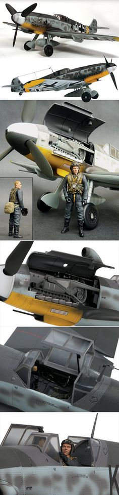 Bf 109G 1/18 Display Model Plastic Model Kits, Plastic Models, Scale Models, Aircraft Painting, Model Hobbies, Military Modelling, Military Diorama, Model Airplanes, Model Ships