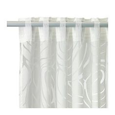 "NORDIS Sheer curtains, 1 pair, white - 57x98 "" - IKEA"
