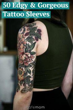Tattoos for women half sleeve, shoulder sleeve tattoos, nature tattoo sleeve women, floral Marvel Tattoos, Boy Tattoos, Body Art Tattoos, Color Tattoos, Tatoos, Faded Color Tattoo, Ship Tattoos, Tattoos Pics, Vine Tattoos