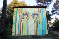 Street artist Nikita Nomerz turns derelict buildings into faces