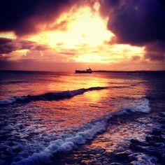 Sunset at Freights Bay, Barbados.