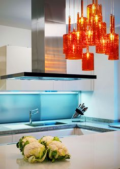 orange kitchen pendant lights