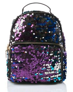 Designer Clothes, Shoes & Bags for Women Sequin Backpack, Black Backpack, Backpack Bags, Cute Mini Backpacks, Colorful Backpacks, Fashion Bags, Fashion Backpack, Designer Shoulder Bags, Girls Bags