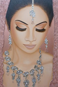 Portrait painting 'Misty-Rose Dreams' on canvas x Mixed-media portrait art. Handcrafted painting by Frank Wagtmans! 3d Art Drawing, Woman Drawing, Indiana, Indian Women Painting, Online Galerie, Amazing Paintings, Modern Paintings, Draw On Photos, Portrait Art
