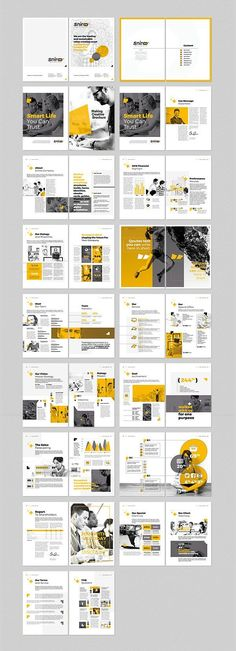 Modern Style Brochure / Catalogue / Template Design Ideas for Inspiration - . - Modern Style Brochure / Catalogue / Template Design Ideas for Inspiration – - Template Brochure, Design Brochure, Brochure Layout, Corporate Brochure, Brochure Ideas, Flyer Layout, Layout Template, Corporate Identity, Corporate Design