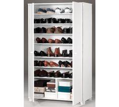Funcional armario zapatero en color blanco. Multiusos.