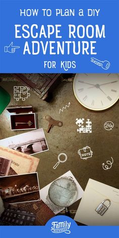 How to plan a diy escape room adventure for kids. Escape Room Design, Escape Room Diy, Escape Room For Kids, Escape Room Puzzles, Indoor Activities, Summer Activities, Spy Party, Family Night, Games For Kids