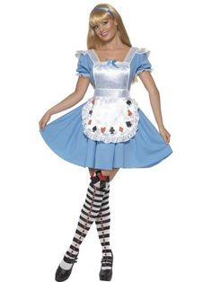 Adult 8-10 Alice In Wonderland Cards Fancy Dress Costume Ladies Womens Female
