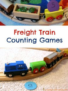 Freight Train Counting Games - such fun ways to practice math skills inspired by Freight Train by Donald Crews