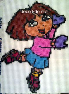 sandylandya.Dora skating hama beads by deco.kdo.nat: