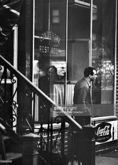 Albert Gallo (nicknamed 'Kid Blast') outside of The Longshore Rest Room, a Restaurant that was a frequent hang out of Joe Gallo's gang.
